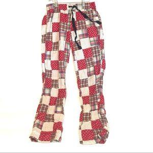 Patchwork plaid PJ pants
